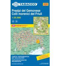 Wanderkarten Italien Tabacco-Karte 020, Prealpi del Gemonese, Colli morenici del Friuli 1:25.000 Casa Editrice Tabacco