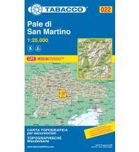 Skitourenkarten Tabacco-Karte 022, Pale di San Martino 1:25.000 Casa Editrice Tabacco