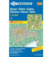 Wanderkarten Südtirol & Dolomiten Tabacco-Karte 034, Bozen/Bolzano, Ritten/Renon, Salten/Salto 1:25.000 Casa Editrice Tabacco