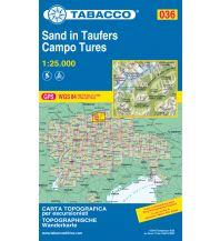 Skitourenkarten Tabacco-Karte 036, Sand in Taufers/Campo Tures 1:25.000 Casa Editrice Tabacco