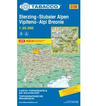 Skitourenkarten Tabacco-Karte 038, Sterzing/Vipiteno, Stubaier Alpen/Alpi Breonie 1:25.000 Casa Editrice Tabacco