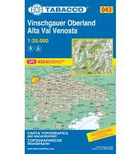 Skitourenkarten Tabacco-Karte 043, Vinschgauer Oberland/Alta Val Venosta 1:25.000 Casa Editrice Tabacco