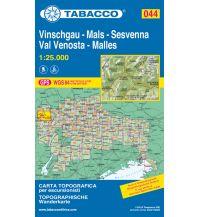 Skitourenkarten Tabacco-Karte 044, Vinschgau/Val Venosta, Mals/Malles, Sesvenna 1:25.000 Casa Editrice Tabacco