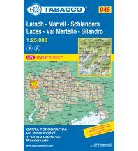 Skitourenkarten Tabacco-Karte 045, Latsch/Laces, Martell/Val Martello, Schlanders/Silandro 1:25.000 Casa Editrice Tabacco