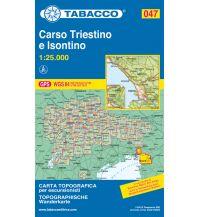 Wanderkarten Slowenien Tabacco-Karte 047, Carso Triestino e Isontino/Karst 1:25.000 Casa Editrice Tabacco