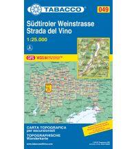 Wanderkarten Südtirol & Dolomiten Tabacco-Karte 049, Südtiroler Weinstraße/Strada del Vino 1:25.000 Casa Editrice Tabacco