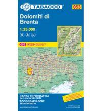 Mountainbike-Touren - Mountainbikekarten Tabacco-Karte 053, Dolomiti di Brenta 1:25.000 Casa Editrice Tabacco