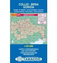 Wanderkarten Slowenien Tabacco-Karte 054, Collio/Brda, Gorizia/Görz 1:25.000 Casa Editrice Tabacco