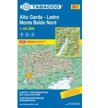 Mountainbike-Touren - Mountainbikekarten Tabacco-Karte 061, Alto Garda, Ledro, Monte Baldo Nord 1:25.000 Casa Editrice Tabacco