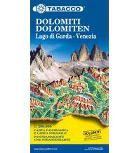 Straßenkarten Österreich Tabacco-Straßenkarte Dolomiti/Dolomiten, Lago di Garda/Gardasee, Venezia/Venedig 1:200.000 Casa Editrice Tabacco