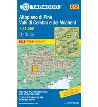Skitourenkarten Tabacco-Karte 062, Altopiano di Pinè, Valli de Cembra e dei Mocheni 1:25.000 Casa Editrice Tabacco