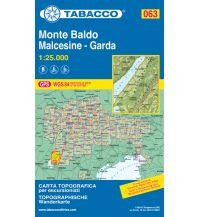Skitourenkarten Tabacco-Karte 063, Monte Baldo, Malcesine, Garda 1:25.000 Casa Editrice Tabacco