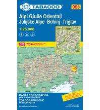 Mountainbike-Touren - Mountainbikekarten Tabacco-Karte 065, Alpi Giulie Orientali/Östliche Julische Alpen, Bohinj, Triglav 1:25.000 Casa Editrice Tabacco