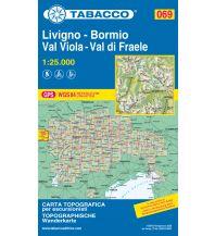 Wanderkarten Schweiz & FL Tabacco-Karte 069, Livigno, Bormio, Val Viola, Val di Fraele 1:25.000 Casa Editrice Tabacco