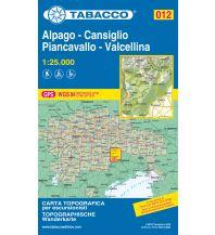 Skitourenkarten Tabacco-Karte 012, Alpago, Cansiglio, Piancavallo, Valcellina 1:25.000 Casa Editrice Tabacco