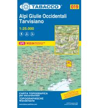 Skitourenkarten Tabacco-Karte 019, Alpi Giulie Occidentali/Westl. Julische Alpen, Tarvisiano 1:25.000 Casa Editrice Tabacco