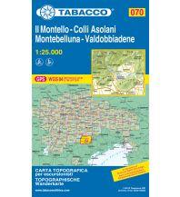 Wanderkarten Italien Tabacco-Karte 070, Il Montello, Colli Asolani, Montebelluna, Valdobbiadene 1:25.000 Casa Editrice Tabacco