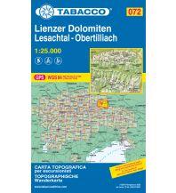 Skitourenkarten Tabacco-Karte 072, Lienzer Dolomiten, Lesachtal, Obertilliach 1:25.000 Casa Editrice Tabacco