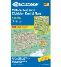 Skitourenkarten Tabacco-Karte 041, Valli del Natisone, Cividale, Krn/Monte Nero 1:25.000 Casa Editrice Tabacco