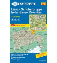 Wanderkarten Tirol Tabacco-Karte 074, Lienz, Schobergruppe, Iseltal, Lienzer Dolomiten 1:25.000 Casa Editrice Tabacco
