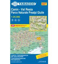 Skitourenkarten Tabacco-Karte 027, Canìn, Val Resia, PN Prealpi Giulie 1:25.000 Casa Editrice Tabacco