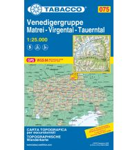 Skitourenkarten Tabacco-Karte 075, Venedigergruppe, Matrei, Virgental, Tauerntal 1:25.000 Casa Editrice Tabacco