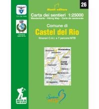 Wanderkarten Apennin Monti Editore Wanderkarte 26, Comune di Castel del Rio 1:25.000 Istituto adria