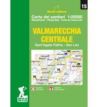 Monti Editore WK 15 Italien Außeralpin - Valmarecchia centrale 1:25.000 Istituto adria