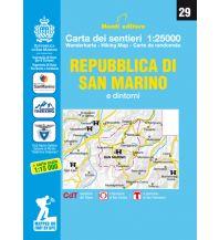 Monti Editore Wanderkarte 29, Repubblica di San Marino e dintorni 1:25.000 Istituto adria