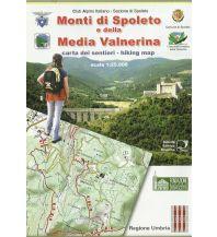 Wanderkarten Apennin SER Wanderkarte Italien Außeralpin - Monti di Spoleto e della Media Valnernia 1:25.000 Società Editrice Ricerca