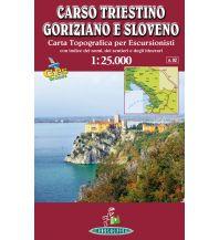 Wanderkarten Slowenien Transalpina-Karte Carso Triestino, Goriziano e Sloveno 1:25.000 Transalpina Libreria Internazionale Editrice