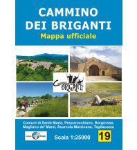 Wanderkarten Apennin Il Lupo mappa ufficiale 19, Cammino dei briganti 1:25.000 Edizioni Il Lupo