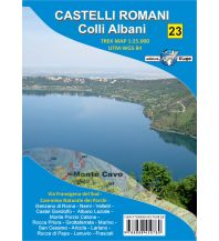 Il Lupo Trek Map 23, Castelli Romani, Colli Albani 1:25.000 Edizioni Il Lupo