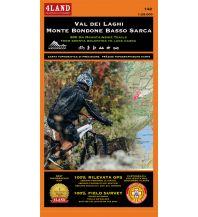 Mountainbike-Touren - Mountainbikekarten 4Land Wander- & MTB-Karte 142, Val dei Laghi, Monte Bondone, Basso Sarca 1:25.000 4Land