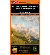 Wanderkarten Südtirol & Dolomiten 4Land WK+RK 154 Italien Alpin - PN Paneveggio - Pale di San Martino 1:25.000 4Land