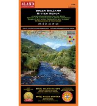 Wanderkarten Südtirol & Dolomiten 4Land WK+RK 180 Italien Alpin - Bozen/Bolzano 1:25.000 4Land