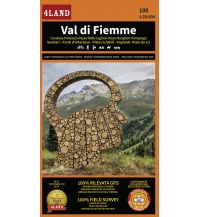Wanderkarten Italien 4Land-Karte 100, Val di Fiemme/Fleimstal 1:25.000 4Land