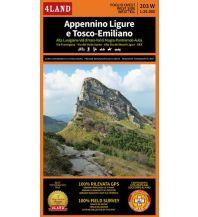 Wanderkarten Apennin 4Land Wander- & MTB-Kartenset 203 West + Ost, Appennino Ligure e Tosco-Emiliano 1:25.000 4Land