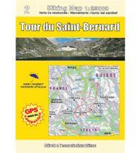 Wanderkarten Escursionista Guida+Carta Italien/Schweiz - Tour du Saint-Bernard 1:50.000 L'Escursionista