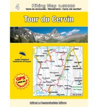 Wanderkarten Escursionista Guida+Carta - Tour du Cervin L'Escursionista