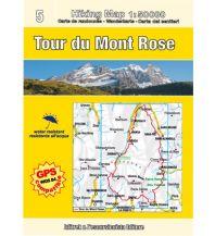Wanderkarten Escursionista Guida+Carta - Tour du Mont Rose L'Escursionista