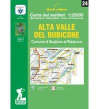 Wanderkarten Monti Editore WK 24 Italien Außeralpin - Alta Valle del Rubicone 1:25.000 Istituto adria