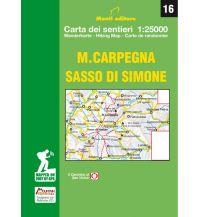 Wanderkarten Apennin Monti Editore Wanderkarte 16, Monte Carpegna, Sasso di Simone 1:25.000 Istituto adria