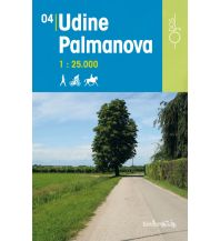 Wanderkarten Italien Rad-, Wander- und Reitkarte Odòs 04, Udine, Palmanova 1:25.000 Odos