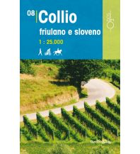 Wanderkarten Slowenien Rad-, Wander- und Reitkarte 08, Collio friulano e sloveno 1:25.000 Odos