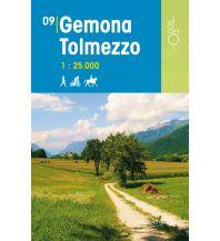 Wanderkarten Italien Rad-, Wander- und Reitkarte Odòs 09, Gemona, Tolmezzo 1:25.000 Odos