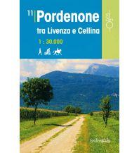 Wanderkarten Italien Rad-, Wander- und Reitkarte Odòs 11, Pordenone - tra Livenza e Cellina 1:30.000 Odos