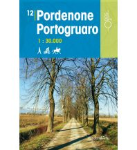 Wanderkarten Italien Rad-, Wander- und Reitkarte Odòs 12, Pordenone, Portogruaro 1:30.000 Odos