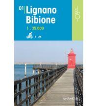 Wanderkarten Italien Rad-, Wander- und Reitkarte Odòs 01, Lignano, Bibione 1:35.000 Odos