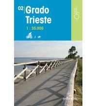 Wanderkarten Slowenien Rad-, Wander- und Reitkarte Odòs 02, Grado, Trieste/Triest 1:35.000 Odos